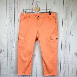 Talbots Signature Salmon Capri Pants Petite  16